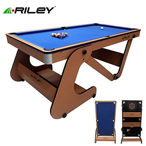 Riley Folding 6ft Pool Table with Dartboard