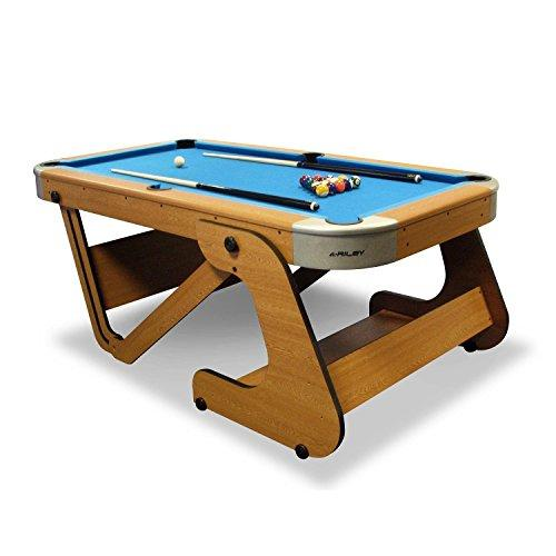 Riley RPTF Super Size Foldable Pool Table Attractive Wooden - Fold up pool table full size