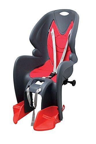 RMS Back Seat Bike Gp Classic Attack On The portapacco, Anthracite with Red Ironing Board Cover (Seats)/Rear Child Bike Seat Bike Gp Classic, Dark Gray Color with Red Lining.Carrier Fixing. (Seats)