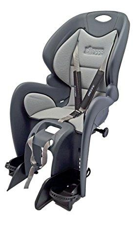 RMS Back Seat Bike Gp Comfort Attack on the portapacco, Anthracite with Padded Ironing Board Cover (Seats)/Rear Child Bike Seat Bike Gp Comfort, Dark Gray Color with Gray Lining. Carrier Fixing. (Seats)