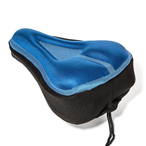 Roam Gel Bike Seat - Extra Soft Gel Bicycle Seat - Bike Saddle Cushion Water & Dust Resistant Cover (Blue)