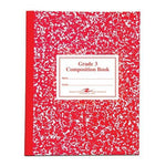 Roaring Spring Paper Products Composition Book, Grade 3 Ruled, 50 Sheets, 9-3/4 x 7-3/4 Inches, Red (ROA77922) by Roaring Spring