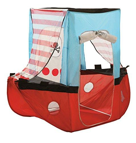 roba Pop Up Play Tent 'Pirate Ship' Play Ship Children's Fabrics + Free Pouch,