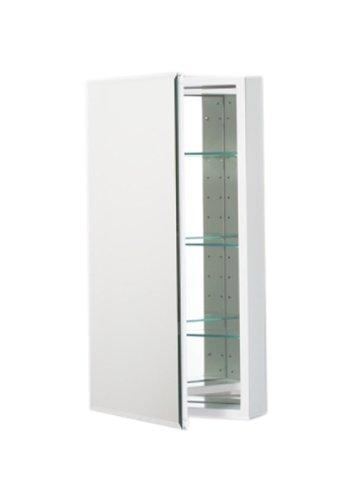 Robern Plm2030Wb Pl Series Flat Beveled Mirrored Door, 19-1/4-Inch W By 30-Inch H By 3-3/4-Inch D, White Interior