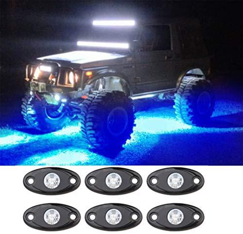 Rock Light Kits with 6 Pods Lights Under Vehicle Cars Interior and Exterior Blue