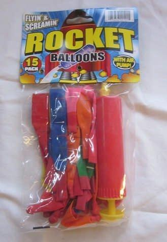 Rocket Balloons with Air Pump 15-Count by Flyin' & Screamin'