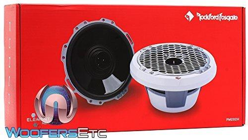 "Rockford Fosgate PM282H Punch Marine 300W 8"" Full Range 2-Way Speakers with Horn Tweeter (White)"