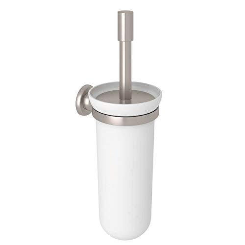 Rohl U.6438STN Perrin & Rowe Transitional Wall Mounted Toilet Brush Holder, Satin Nickel