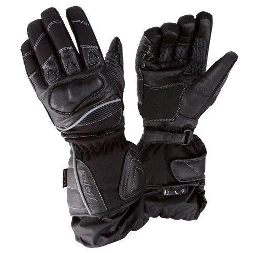 Roleff Racewear 825 XL Leather Motorcycle Gloves - Black