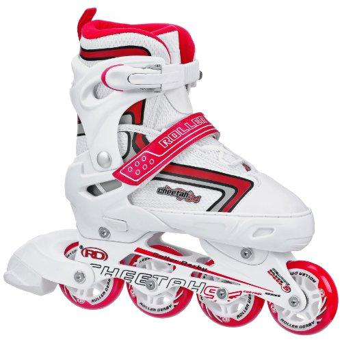 Roller Derby Girl's Cheetah S4 Adjustable Inline Skates, Medium (3-6)