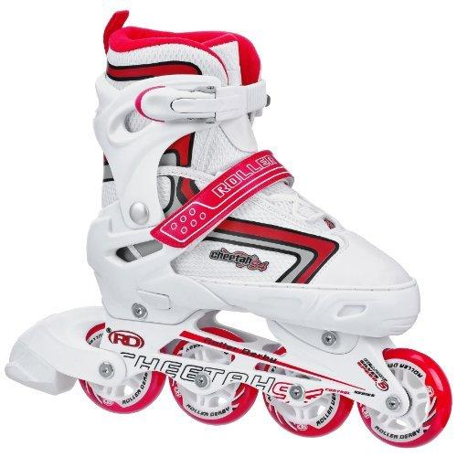 Roller Derby Girl's Cheetah S4 Adjustable Inline Skates, Small (12-2) by Roller Derby