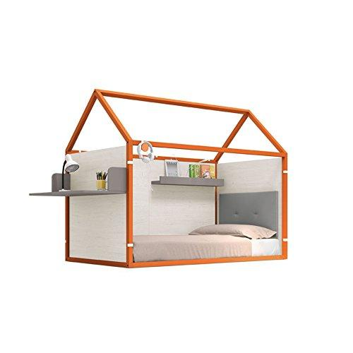 ROS Lacquered Home Furniture with Desk and Shelf 158.5 x 202 x 102 cm Pumpkin/Oak