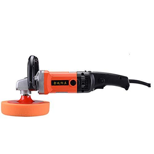 Roscloud@ 220V 1500W Car Waxing Machine Polishing Machine, High Power Super Large Radiator Detachable Handle Double Switch, Ergonomic Design Clean and efficient (color : ORANGE, Size : #3)