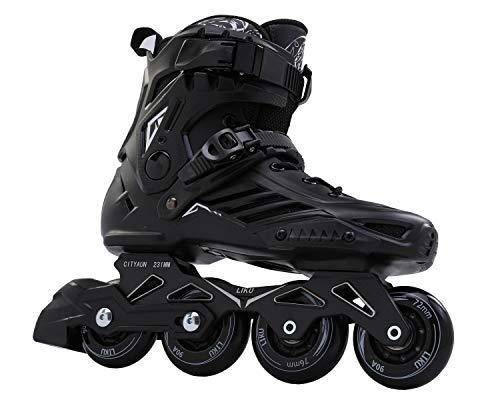 ROSELLE Mens/Womens Recreational Inline Skates, Black Rollerblades (Men 6.5,Women 7.5)
