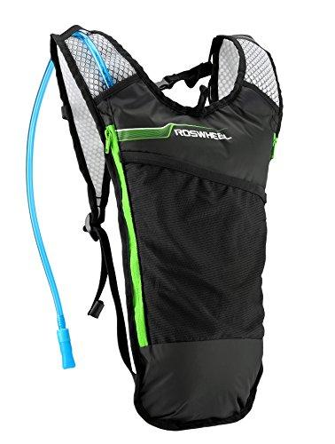 Roswheel Hydration Backpack With Bladder Water Reservoir, Green, 2 L