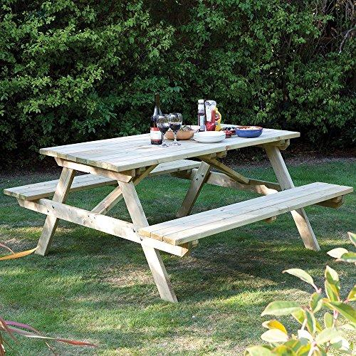 Rowlinson Ft Seater Pressure Treated Wood Picnic Bench High - Pressure treated wood picnic table