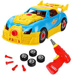 ROYAKWA Construction Toys–Take Apart Toys Car Racing| 3D Take Apart Pieces With Realistic Sounds & Lights| Educational Toys Kit Tools Drill Real Lights and Sounds,Gift for Kids 3 Years and Up