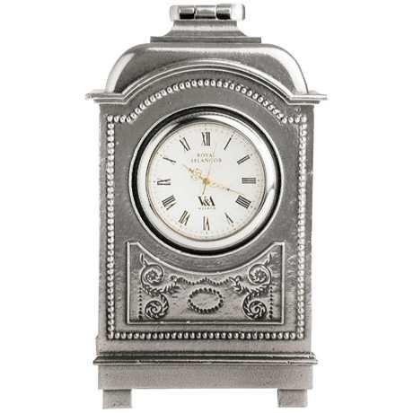 Royal Selangor Hand Finished The Inspired Collection Pewter Carriage Table Clock