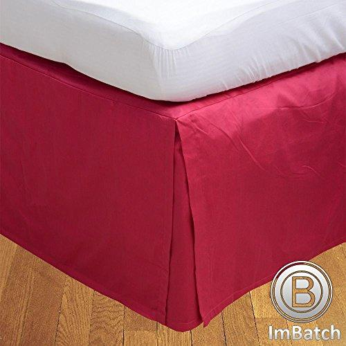 RoyalLinens UK King 300TC 100% Egyptian Cotton Hot Pink Solid Elegant Finish 1PCs Box Pleated Bedskirt Solid (Drop Length: 14 inches)