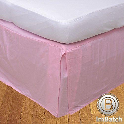 RoyalLinens UK Single 500TC 100% Egyptian Cotton Pink Solid Elegant Finish 1PCs Box Pleated Bedskirt Solid (Drop Length: 12 inches)