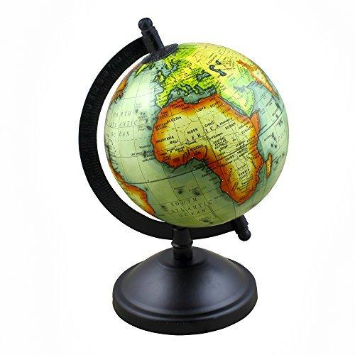 RoyaltyRoute Desktop Earth Globe World Map Stand, 8 Inches Office, Classroom, Kids Room & Home Decor