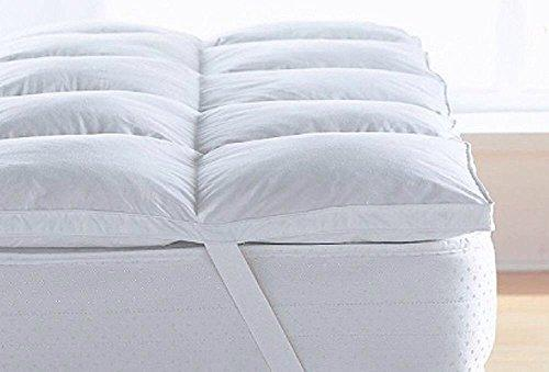 Royyaltex Comfort Premium Quality(Micro lite) Micro Fibre Mattress Topper Thick 5 cm, Box Stitched,in All Sizes,Anti ALLERGENIC (Double: 137cm X 190cm Approx)