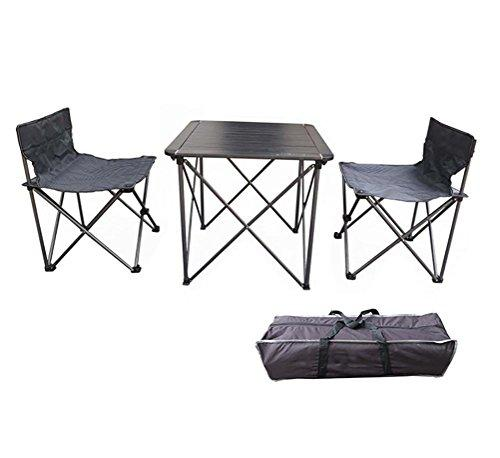 Ruirui Aluminum Table and Chairs suit Beach Outdoor Camping Portable Folding Table