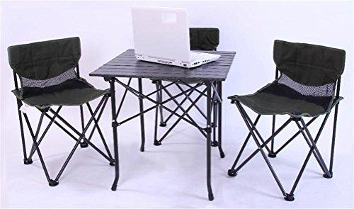 Ruirui Garden Camping Tables with 4 Chairs Folding Portable Tables for Party BBQ