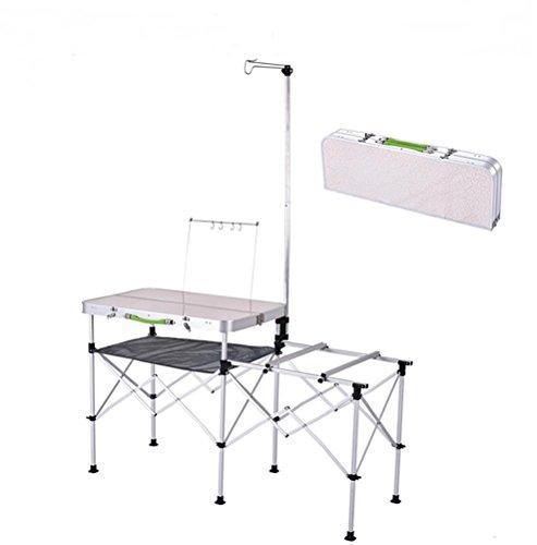 Ruirui Mobile kitchen? Folding TrestleTable for Party BBQ Picnic Camping Carboot Garden Party Market Stall