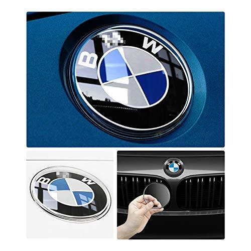 RUIYA Special Protection Cover for Front and Back Logo Emblems of 2 Series / 3 Series (2012-2018) / 4 Series / 5 Series (2011-2018),Dust cover,Car Decoration (1 Pair)