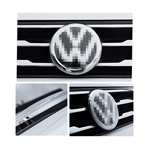 RUIYA Special Protection Cover for Front and Back Logo Emblems of 2017-2019 Tiguan,Dust cover,Car Decoration (1 Pair)