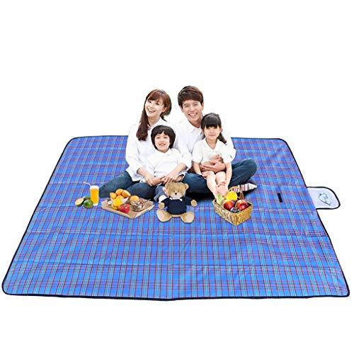 Rycd Picnic Carpet Mat 180 X 150 Cm Waterproof Blanket Portable Folding Beach Rug Travel Camping Caravan Outdoor (color : Blue)