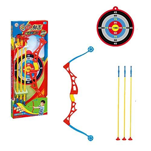 Safety Kids Outdoor Games Toy Bow & Arrow & Holder Archery Set With Suction Cup Arrows Target Games #A