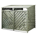 Sage/Willow Green Weatherproof Wood Double Wheelie Dust Bin Hideaway Storage