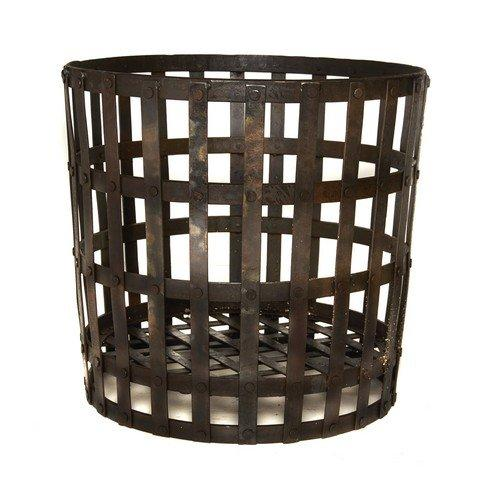 *SALE* 55cm Wrought Iron Gothic Log Basket/Wood/Briquettes/Fireplace Accessory/Storage