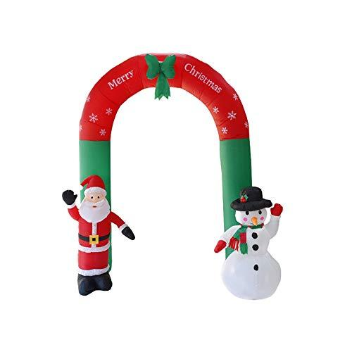 samLIKE Large Christmas Inflatable Arch,Funny Santa Snowman Art Decoration for Xmas Airblown Inflatable Outdoor Garden Yard Hotel Shopping Mall (green)