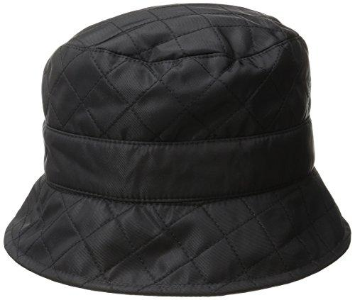 San Diego Hat Company Women's Packable Quilted Rain Hat, Black, One Size