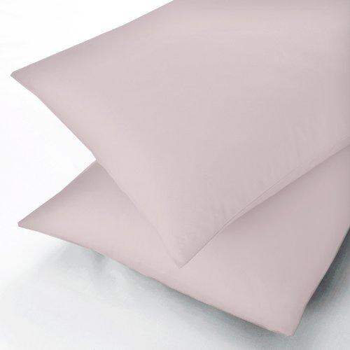 Sanderson Pima Cotton Plain Dye, Valance Sheet, King, Percale Pink