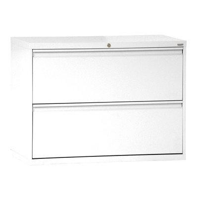 "Sandusky Lee LF8F302-22 800 Series 2 Drawer Lateral File Cabinet, 19.25"" Depth x 28.375"" Height x 30"" Width, White"
