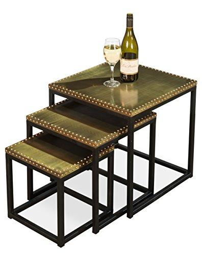 Sarreid 30964 Industrial Nesting Side Tables