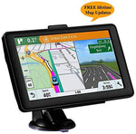 Sat Nav GPS Navigation System, 7 Inch HD Touch Screen 8 G 256 MB Navigation Maps, Smart Voice Reminder Global Navigation with UK and EU 2019 Maps Lifetime Free Updates for Car Truck Lorry