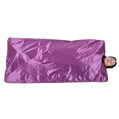 Sauna Heating Blanket, Self Body Shaping Blanket Weight Losing Device Slimming Fitness Machine(Purple)