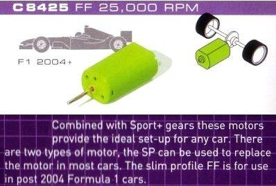 Scalextric C8425 FP Motor 25K RPM with wires 1:32 Scale Accessory