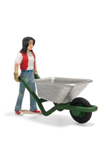 Schleich 13453 Stable girl with wheelbarrow