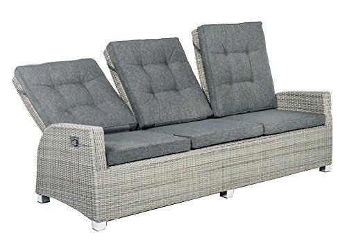 Schlichter Möbel Garden Furniture Polyrattan Lounge Garden Sofa Barcelona 3  Seater Sofa