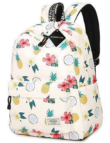 School Bookbag for Girls, Cute Pineapple Water Resistant Laptop Backpack College Bags Women Travel Daypack