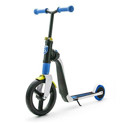 Scoot & Ride® Highway Freak 2in1 Kids Unisex Scooter/Push Bike - Push Slide or Ride - For Children Aged 3-5 Years - Max Weight Load 50kg - Multi-Function Scooter/Running Bike - BLUE & YELLOW