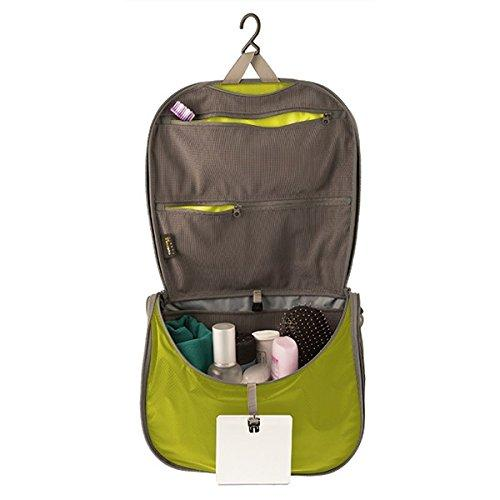 Sea to Summit Travelling Light Hanging Toiletry Bag - Lime Green Large