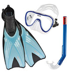 SEAC Kids' Trab Siltra Set (Fins + Diving Mask + Snorkel), Blue, 32/33