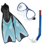 SEAC Unisex Trab Set Adults (Fins + Diving Mask + Snorkel), Blue, 44/45